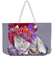 Cat In The Red Hat Weekender Tote Bag by Carol Cavalaris