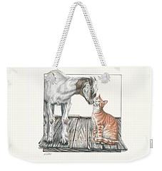 Cat Kiss Weekender Tote Bag