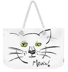 Cat Meow Weekender Tote Bag