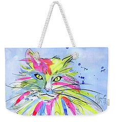 Cat Of Many Colors Weekender Tote Bag