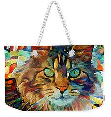 Cat On Colors Weekender Tote Bag