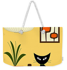 Cat On Tabletop With Mini Mod Pods 3 Weekender Tote Bag