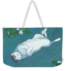 Cat On Vacation Weekender Tote Bag
