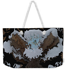 Cat Snow Angel Weekender Tote Bag by David and Lynn Keller