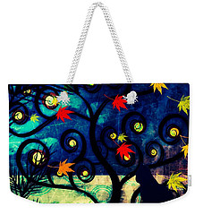 Cat Watch  Weekender Tote Bag by Kim Prowse