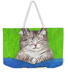 Cat With 12th Flag Weekender Tote Bag