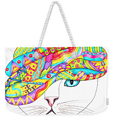 Cat With A Fancy Turban Weekender Tote Bag by Terry Taylor