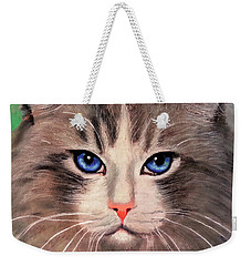 Cat With Blue Eyes Weekender Tote Bag