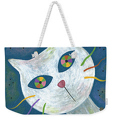 Cat With Kaleidoscope Eyes Weekender Tote Bag