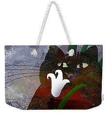 Cat With Lily Weekender Tote Bag