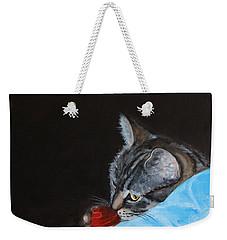 Cat With Red Yarn Weekender Tote Bag