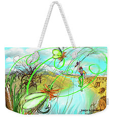 Catails And Flys Weekender Tote Bag