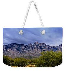 Weekender Tote Bag featuring the photograph Catalina Mountains P1 by Mark Myhaver