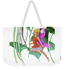 Catalpa Tree Fairy Among The Seed Pods Weekender Tote Bag