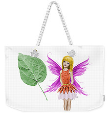 Catalpa Tree Fairy And Leaf Weekender Tote Bag