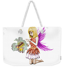 Catalpa Tree Fairy Holding Flower Weekender Tote Bag