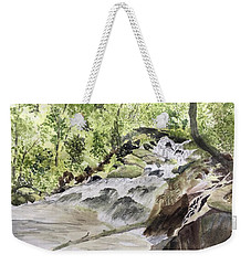 Catawba Falls - A Watercolor Sketch Weekender Tote Bag