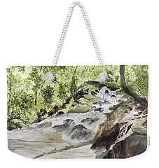 Catawba Falls - A Watercolor Sketch Weekender Tote Bag