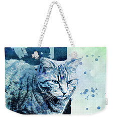 Weekender Tote Bag featuring the digital art Catbird Seat by Jutta Maria Pusl