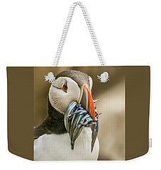 Weekender Tote Bag featuring the photograph Catch Of The Day by Brian Tarr