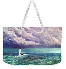 Tell The Storm Weekender Tote Bag by Patricia L Davidson