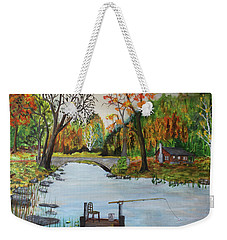 Catching Breakfast Weekender Tote Bag