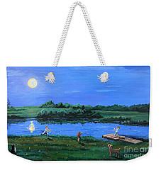 Catching Fireflies By Moonlight Weekender Tote Bag