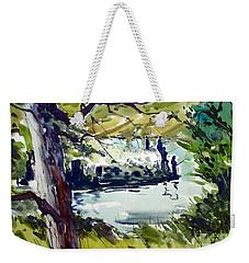 Catching Summer Dreams Framed Matted Glassed Weekender Tote Bag
