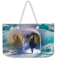 Catching The Tube With My Guitar Weekender Tote Bag