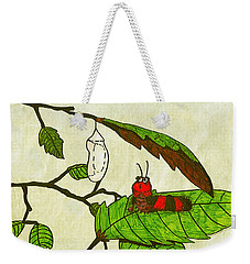 Caterpillar Whimsy Weekender Tote Bag