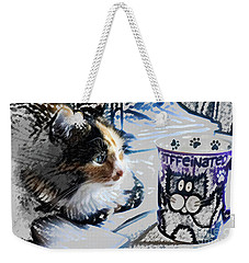 Catfinated Kitty Weekender Tote Bag by Deborah Nakano
