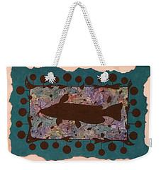 Catfish Silhouette Weekender Tote Bag