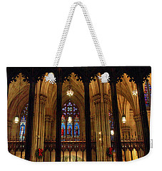 Weekender Tote Bag featuring the photograph Cathedral Arches by Jessica Jenney