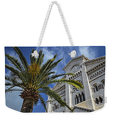 Weekender Tote Bag featuring the photograph Cathedral At Monte Carlo by Allen Sheffield