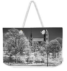 Weekender Tote Bag featuring the photograph Cathedral Basilica Of The Sacred Heart Ir by Susan Candelario