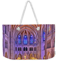 Weekender Tote Bag featuring the photograph Cathedral Basilica Of The Sacred Heart Newark Nj II by Susan Candelario