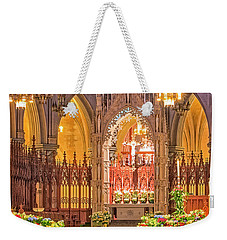 Weekender Tote Bag featuring the photograph Cathedral Basilica Of The Sacred Heart Newark Nj by Susan Candelario