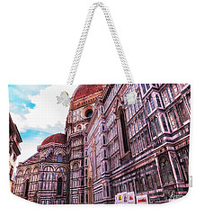 Cathedral In Rome Weekender Tote Bag by Linda Constant