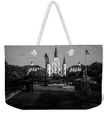 Cathedral Light In Black And White Weekender Tote Bag