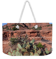Cathedral Rock Cactus Grove Weekender Tote Bag