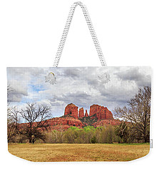 Weekender Tote Bag featuring the photograph Cathedral Rock Panorama by James Eddy