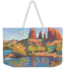 Moonrise Cathedral Rock Sedona Weekender Tote Bag