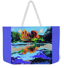Weekender Tote Bag featuring the painting Cathedral Rock - Sedona by Elise Palmigiani
