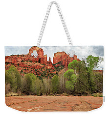 Weekender Tote Bag featuring the photograph Cathedral Rock Sedona by James Eddy