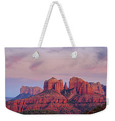 Weekender Tote Bag featuring the photograph Cathedral Rock by Patricia Davidson