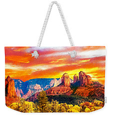 Cathedral Rocks Red Rock State Park Weekender Tote Bag by Dr Bob Johnston