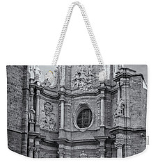 Weekender Tote Bag featuring the photograph Cathedral Valencia Spain by Joan Carroll