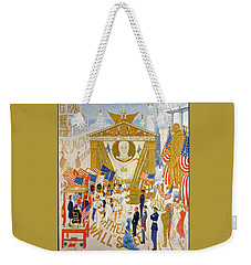 Weekender Tote Bag featuring the photograph The Cathedrals Of Wall Street - History Repeats Itself by John Stephens