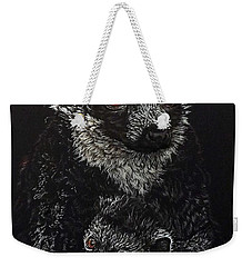 Catherina And Baby Abby Weekender Tote Bag by Linda Becker