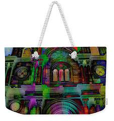 Weekender Tote Bag featuring the photograph Catholic Church At Chordeleg, Ecuador by Al Bourassa